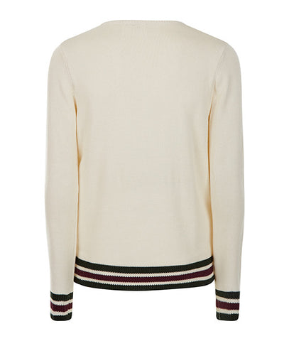 Cream College Sweater