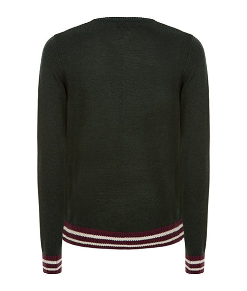 Green College Sweater - MARBEK