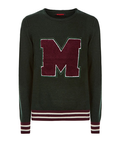 Green College Sweater