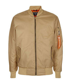Brown M-Line Bomber