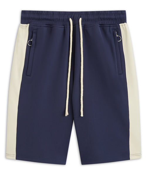 Navy and cream rock Shorts