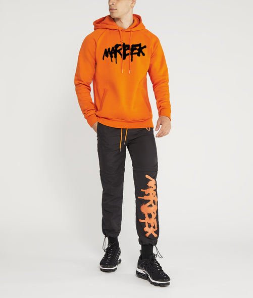 Orange Graffiti Hoodie Marbek