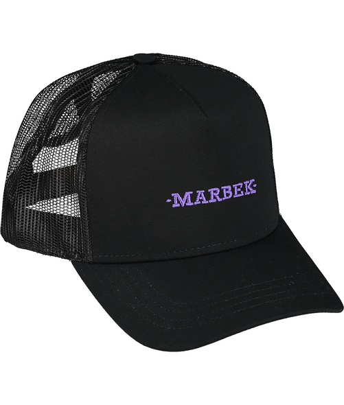 Black and Purple Diamonds Logo Cap