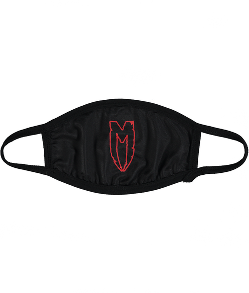 M LOGO FACEMASK RED