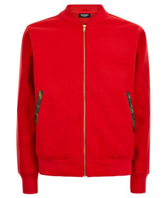 Red Field Bomber Jacket - MARBEK
