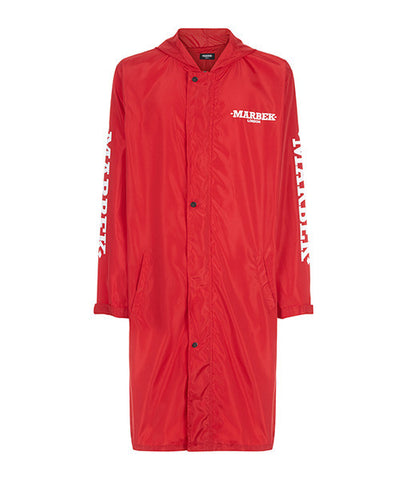 Archive Raincoat Cherry Red