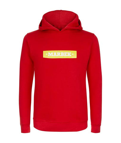Essentials Box Logo Red Hoodie