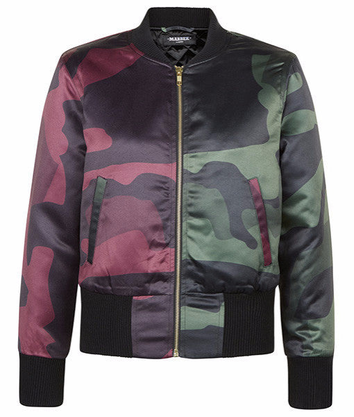Split DPM Cropped Bomber Jacket