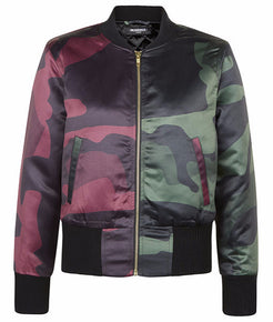 Split DPM Cropped Bomber Jacket - MARBEK