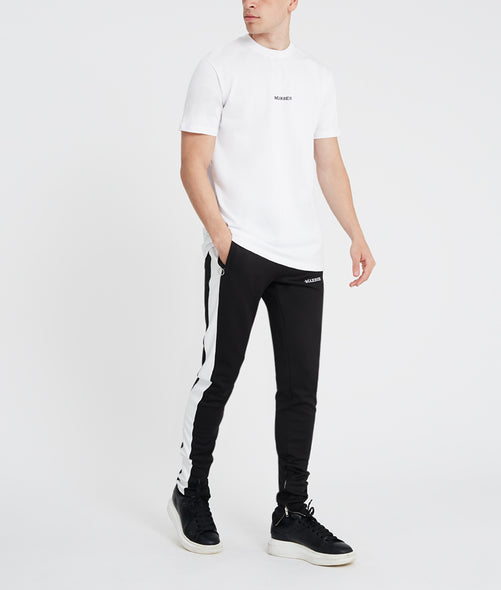 Essential White/black T-shirt