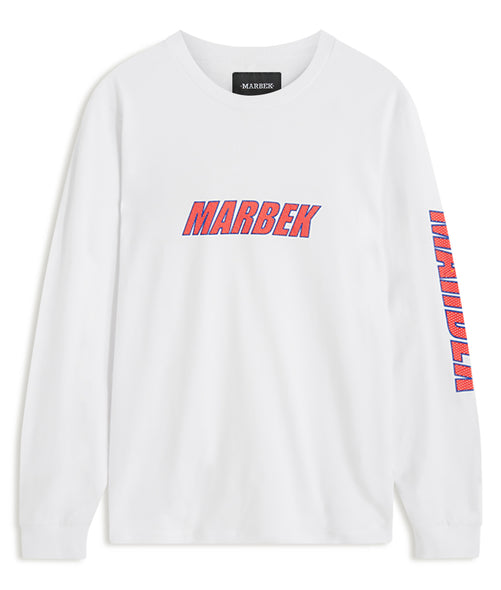 Long Sleeve Retro Sport White