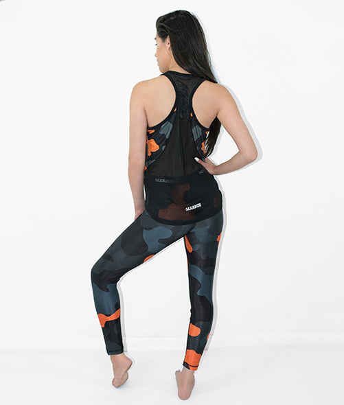 Yoga Pants Orange Camo
