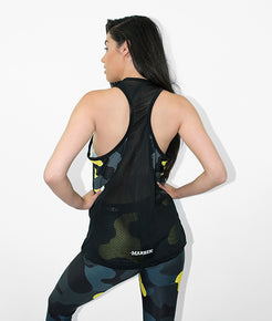Yellow Camo Yoga Vest