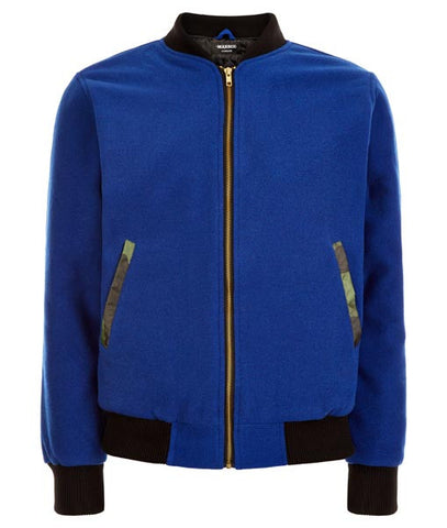 Blue Field Bomber Jacket
