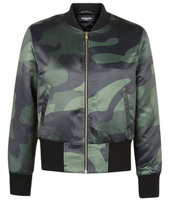 Green DPM Cropped Bomber Jacket - MARBEK