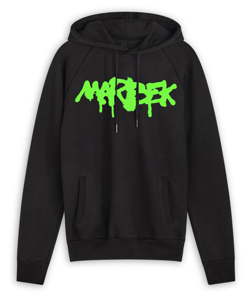 Green and Black Graffiti Hoodie Marbek