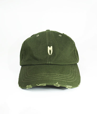 Yellow M Logo Distressed Cap