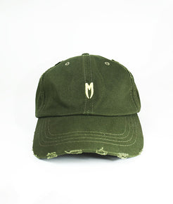 Yellow M Logo Distressed Cap - MARBEK