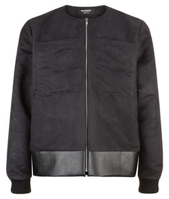Collarless Bomber Jacket - MARBEK