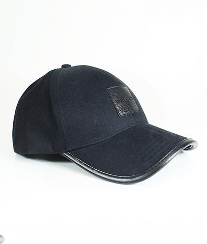 Leather Patch Baseball Cap