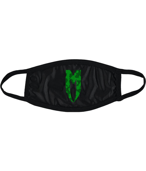 DPM M LOGO FACEMASK GREEN