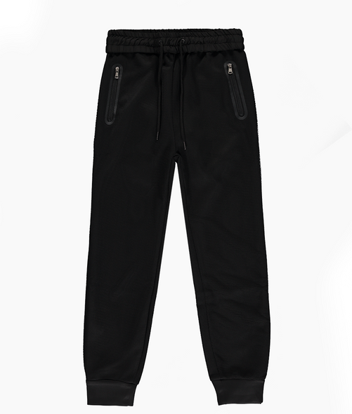 Black Mesh Tracksuit Bottom