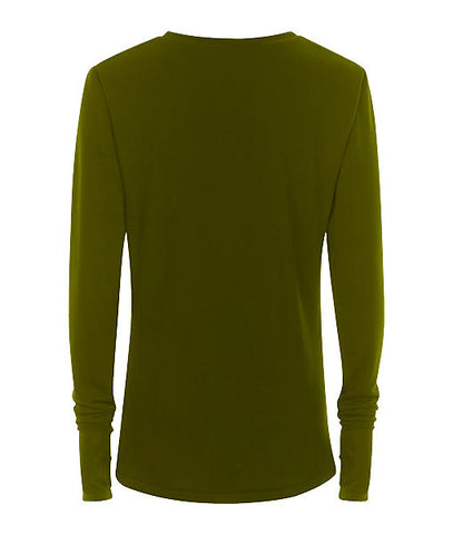 Olive Thumb Hole Jersey