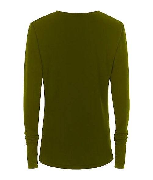 Olive Thumb Hole Jersey - MARBEK
