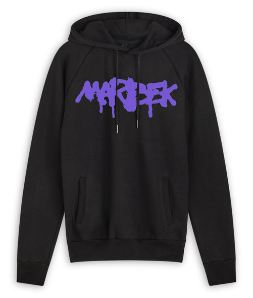 Purple and Black Graffiti Hoodie Marbek