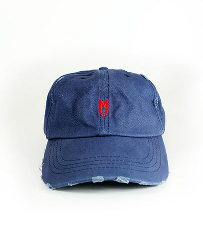 Red M Logo Distressed Cap