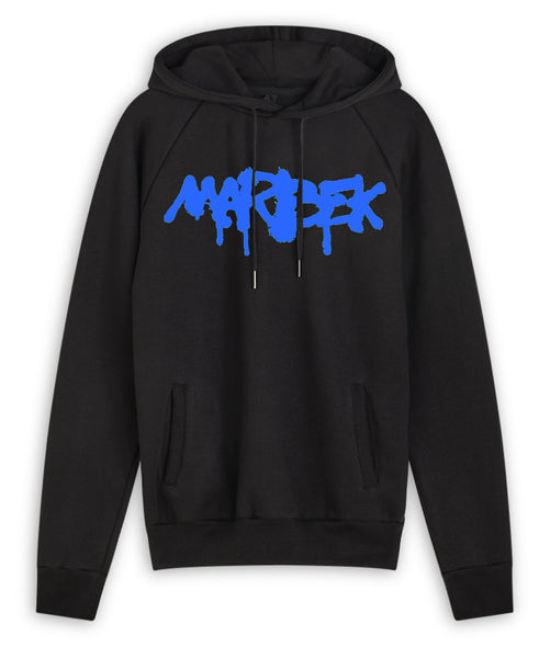 Black and Blue Graffiti Hoodie Marbek