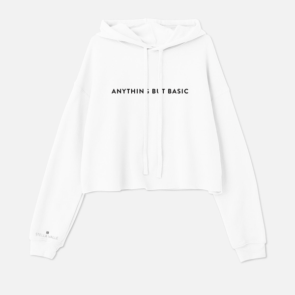 ANYTHING BUT BASIC Cropped Hoodie Sweatshirt
