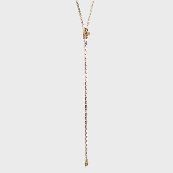 SMILEY FACE Lariat Necklace