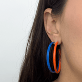"ORANGE HEXAGON 2"" Earrings"
