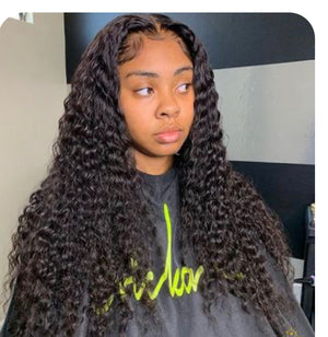 Exotic Deep Wave Closure Wig