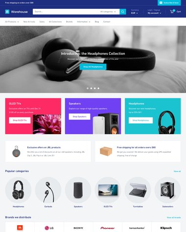 Warehouse Shopify theme review