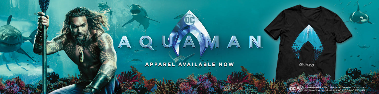 Aquaman T-shirts, Hoodies, Mystery Boxes, Mugs, Posters and other accessories
