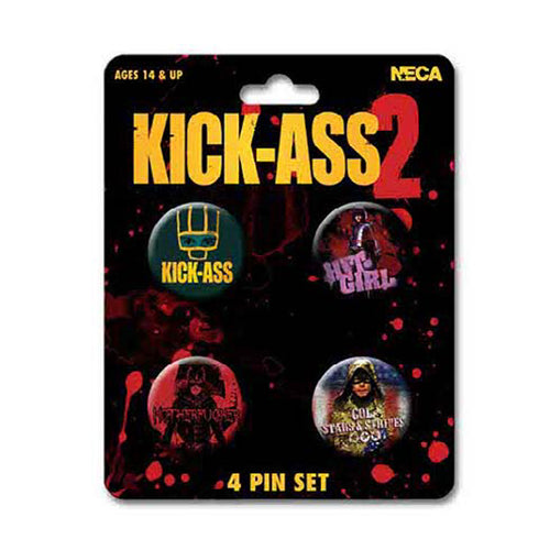 Kick Ass 2 | Character Art 4 Pin Set
