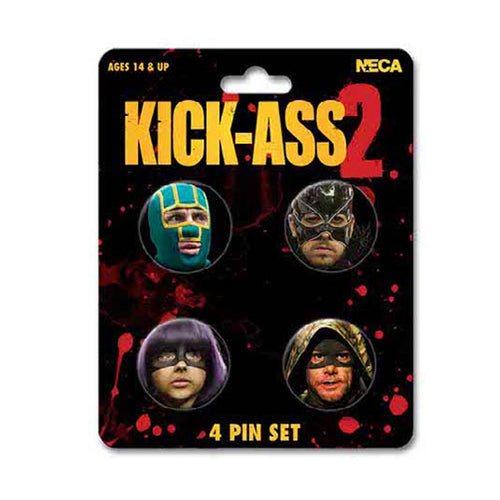 Kick Ass 2 | Character Faces 4 Pin Set
