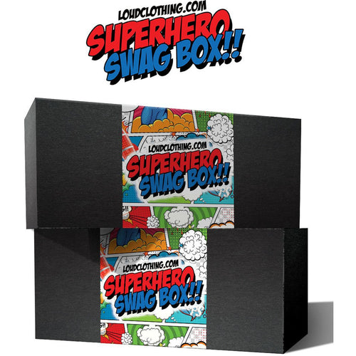 Buy Loudclothing (5 Superhero T-shirts) Mystery Box online at Loudshop.com