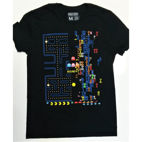 Pacman | Retro Maze Black T-shirt