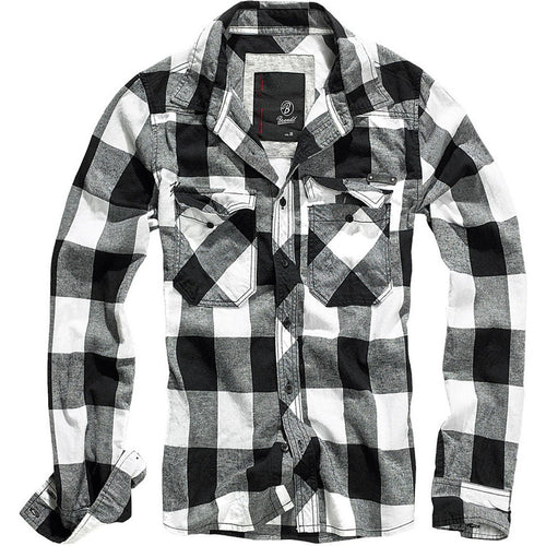 Buy Brandit (White/Black) Checkshirt online at Loudshop.com
