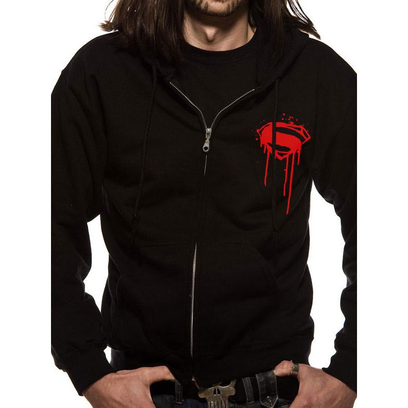 Buy Batman V Superman (Superman Poster) Hoodie online at Loudshop.com