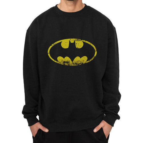 Buy Batman (Distressed Logo) Crew Neck online at Loudshop.com