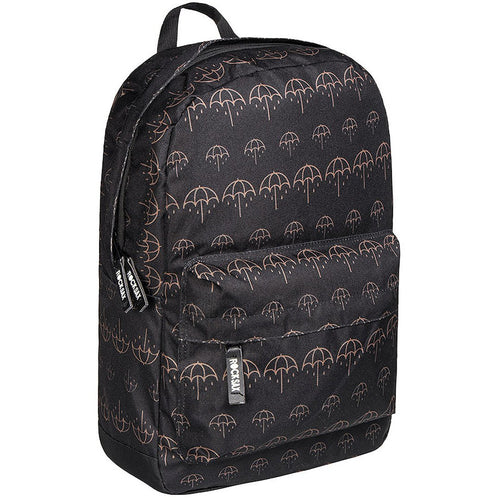 Bring Me The Horizon - Umbrella Print Gold Backpack
