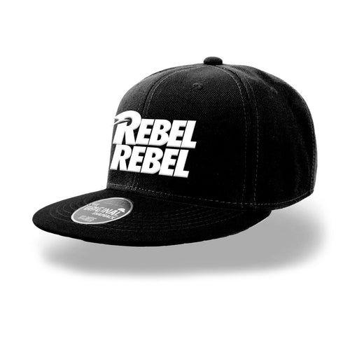 David Bowie | White Rebel Rebel Snapback Cap