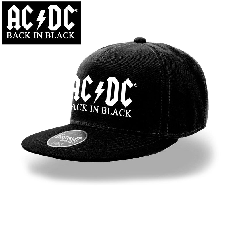 AC/DC | Logo Back In Black Snapback Cap