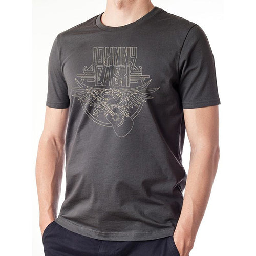 Johnny Cash | Outline Eagle Guitar T-Shirt