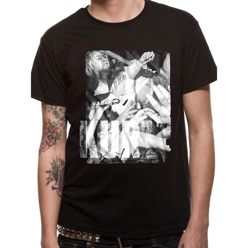 Buy Kurt Cobain (Crowd Dive) T-shirt online at Loudshop.com