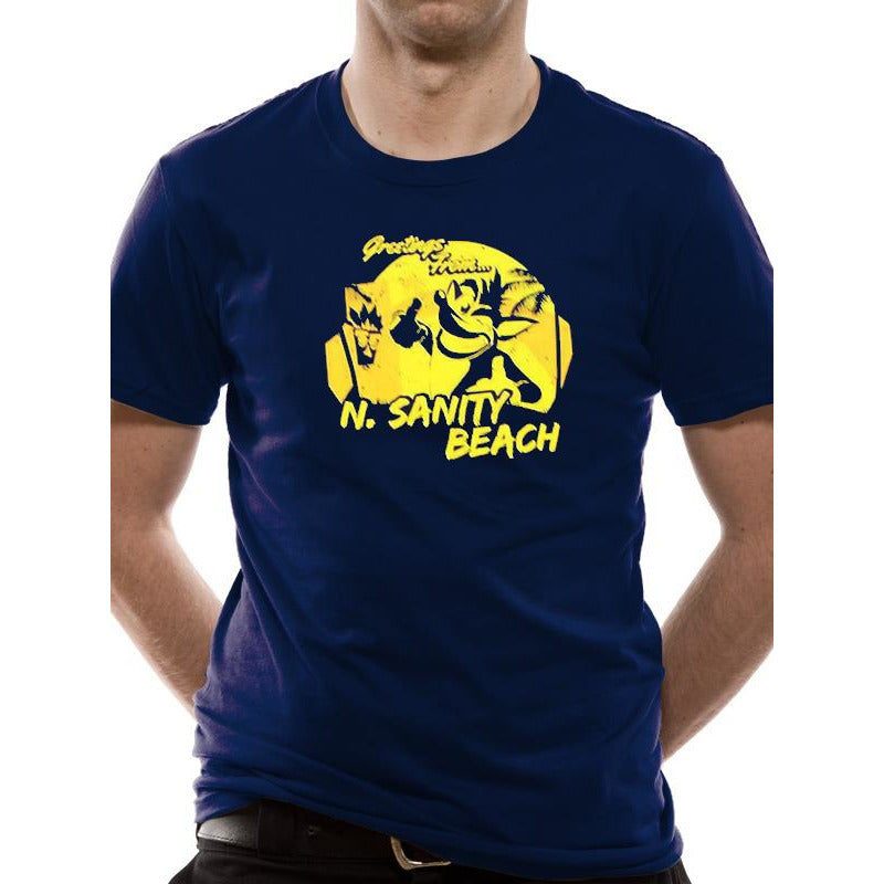Crash Bandicoot | N. Sanity Beach Navy T-Shirt